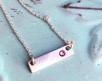 Mom Birthstone Necklace - Birthstone Bar Necklace - Custom Birthstone Necklace - Mother's Necklace - Birthstone Necklace for Mom