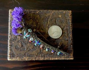 Antique Mesh/Enameled Silver Flower Vase Brooch, Vintage Posy Pin, Flower Holder Brooch, Antique Jewelry, Boutineer/Lapel Flower Vase Pin