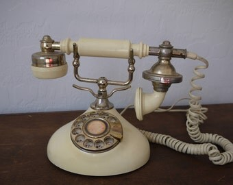 Vintage Mura Corporation Rotary Dial Phone / Vintage Rotary phone / Prop, set design / Princess phone / rare telephone /
