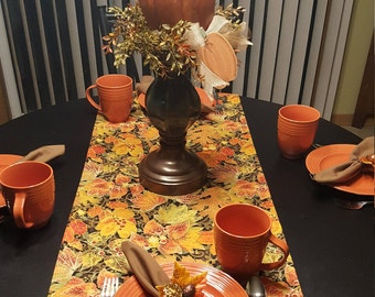 Fall Table Runner, Autumn Table Runner, Harvest Table Runner, Thanksgiving Table  Runner