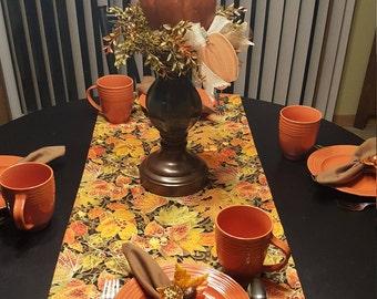 Fall Table Runner,  Autumn Table Runner,  Harvest Table Runner,  Thanksgiving Table Runner