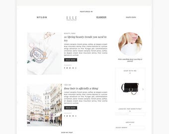 Wordpress Theme - Allison, Feminine Wordpress Theme |  Responsive Blog Theme Design,  Genesis Website Theme