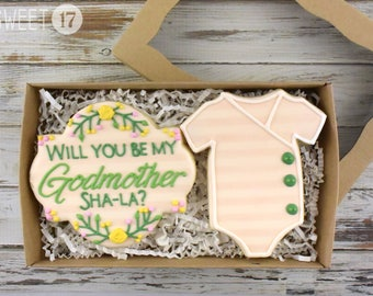 Custom Will you be my Godmother? Sugar Cookies Box Set