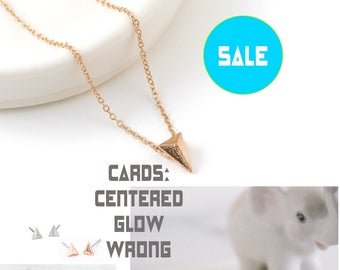 70% OFF SALE True North Necklace, Gold Pyramid Necklace, Centered Ncklace, Care Package Gift, Woman power