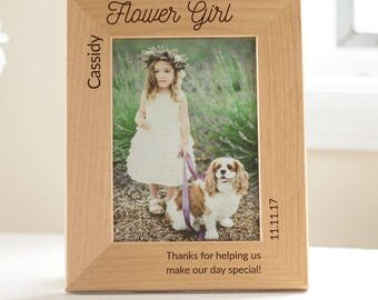 Personalized Flower Girl Picture Frame: Personalized Flower Girl Gift, Custom Flower Girl Gift, Unique Flower Girl Keepsake, SHIPS FAST