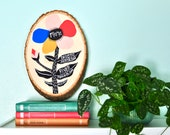 Personalized Gift for Mom, Mom Gift with children's Names, Mothers Day Gift, Mom Gift from Kids, Mom Art, Flower Painting, Wood Sign for Mom