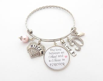 Gift for niece etsy niece gift niece bracelet niece jewelry personalize niece wedding gift gifts from aunt negle Images