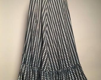 1930's Printed Cotton Skirt