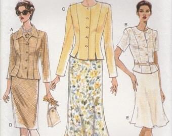 90s Top & Skirt Pattern Vogue 9370 Sizes 12 14 16 Uncut