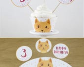 Boy Cat Party Cupcake Top...