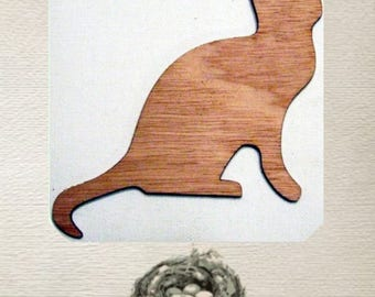 Cat Wood Cut Out - Laser Cut