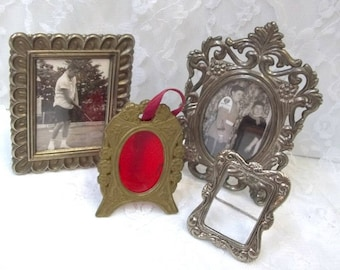 miniature frame collection very small metal photo frames picture frames silver plated frames tiny frames ornate - Miniature Frames