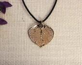 SALE Leaf Necklace, Real Aspen Leaf, Gold Leaf, Boho Jewelry, Real Leaf, Leaf Pendant, SALE380