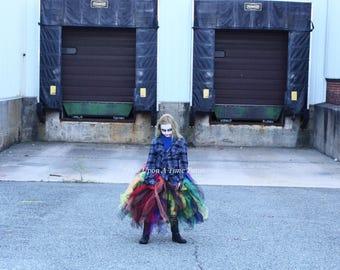 evil clown tutu skirt little kids girl child size 12m 2t 3t 4t 5 6