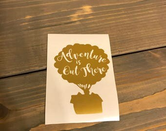 Adventure is Out There, Up Vinyl Decal, Disney, House with Balloons, Yeti Decal, Laptop Decal, Cell Phone Sticker, Car Decal
