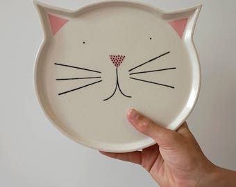 Cat Plate – ceramic – stoneware – pottery