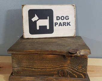 DOG SIGN - Dog Park-  rustic wooden hand painted pet sign.