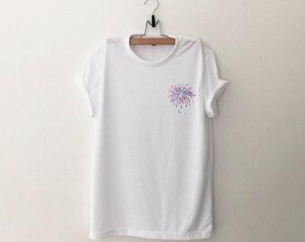4th of july pocket shirt graphic tee womens firework printed funny t shirts women tshirts