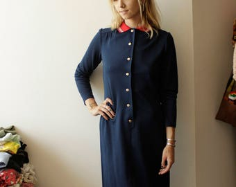 Adorable 60s collar shift dress- S/M