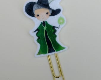Professor McGonagall Felt Planner Clip Bookmark for Harry Potter Planners