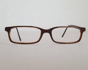 RAY BAN Glasses  • Brown Rectangular Eye Glass Frames