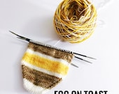 Hand dyed self-striping yarn | Handdyed - Wool - Merino-Nylon | Egg on Toast