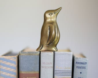 Adorable vintage brass penguin figurine