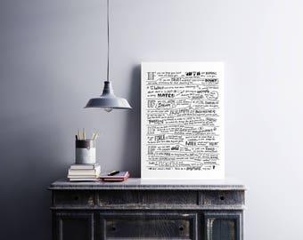 If Rudyard Kipling Poem, If Poem, Lettering, Literature Print, Poem Print, If Framed, Hand-Lettered Art, wall art, Graduation Gift, Poetry
