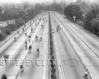 Cycling the Freeway/ Original Los Angeles Photography