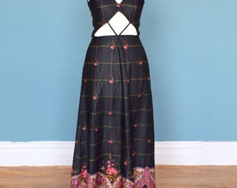 Vintage 70's Summer Maxi Dress UK Size 6