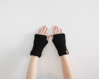 black wrist warmers. fingerless texting gloves. womens driving mittens. black crochet mittens. winter accessories. mens gloves mittens