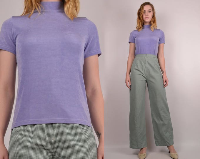 20% OFF  SALE 90's Lavender Mock Neck Top