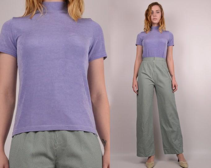 90's Lavender Mock Neck Top