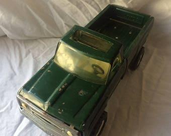 Tonka Pickup Truck, Green Metal