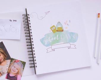 Back to School: School Years Memory Book // School Years Scrapbook // School Album // School Journal // Preschool through 12th Grade Book