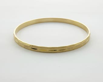 Vintage Gold Plated Bangle - BR003