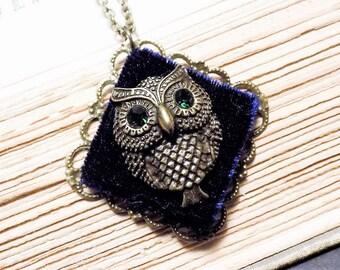 Victorian Owl Pendant