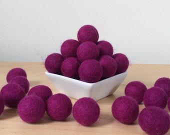 Felt Balls: GRAPE, Felted Balls, DIY Garland Kit, Wool Felt Balls, Felt Pom Pom, Handmade Felt Balls, Purple Felt Balls, Purple Pom Poms