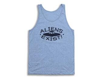 Aliens Exist Tank Top - Vintage Tri-Blend Apparel For Men & Women
