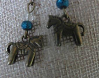 Little Bronze Horse Earrings