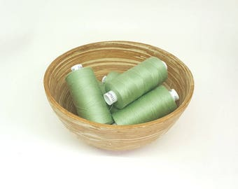 Pale Green sewing thread. Polyester thread. Coats Moon colour M034. 1 reel