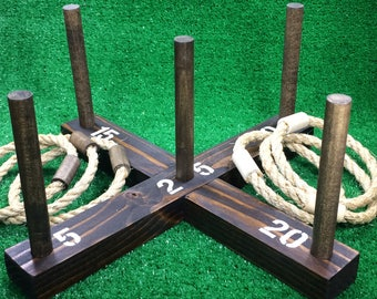 SALE: Rustic Ring Toss Outdoor Yard/Lawn Game with 6 Rings