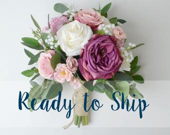 READY TO SHIP - wedding bouquet, eucalyptus bouquet, greenery, eucalyptus, silk bouquet, bridal bouquet, wedding flowers, garden bouquet