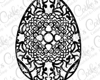 Pretty Egg SVG | Easter SVG | Easter Egg SVG | Commercial & Personal Use- svg file for Cricut