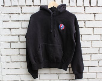 GRATEFUL DEAD Hooded Sweatshirt Size M Medium Deadhead Jerry Garcia Hoodie Band Live Promo Tour