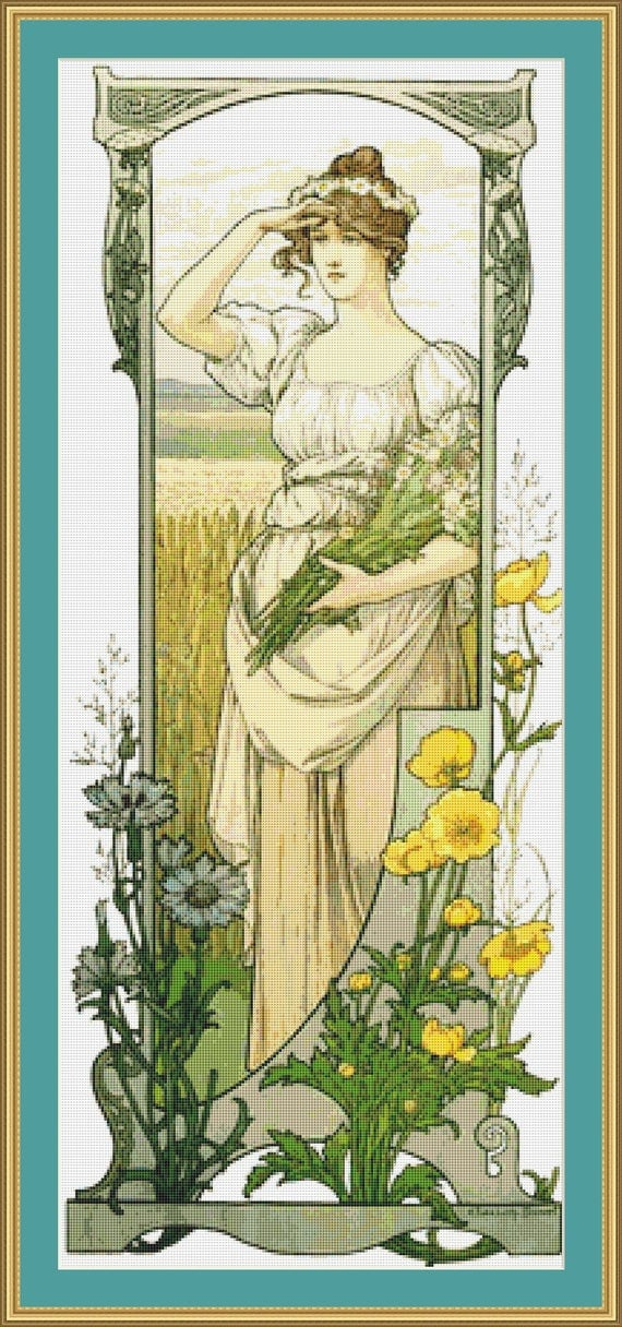 Fleurs Des Champs Cross Stitch Pattern - Digital PDF Files / Instant Downloadable