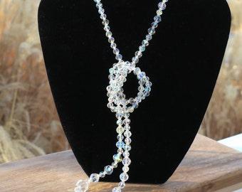 Vintage Crystal Aurora Borealis Necklace