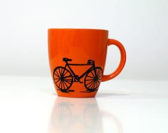 Bicycle coffee mug Cycling mug - bicycle mugs - bike cycle mug - bicycle mug - bike cycling mugs bicycling - bike mug - bike art - bike gift