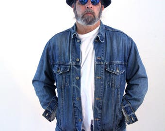 90s Levi's Denim Jacket, Vintage Levi's Truckers Jacket, Levi's Jean Jacket, Levis Blue Jean Jacket, Red Tag 70507 Jacket, L