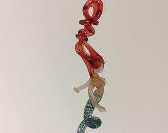 Blown Glass Mermaid Hanging Window Ornament - Ariel is Beautiful!